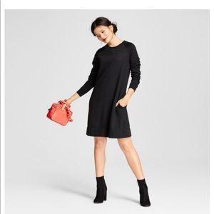 A New Day Black Sweatshirt Dress with Pockets